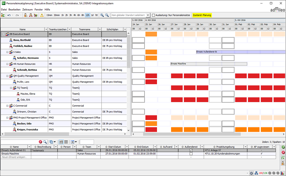 archimedon software und consulting personnel deployment scheduling